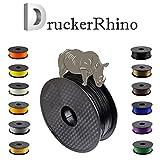 DruckerRhino 3D Druck PLA Filament 1,75 mm 1kg Rolle für 3D Drucker oder Stift in Vakuumverpackung (Schwarz)