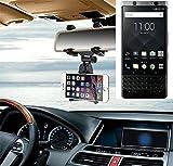 Smartphonehalterung Rückspeigelhalterung für Blackberry KeyOne, schwarz | Autohalterung Spiegel KFZ Halter - K-S-Trade (TM)