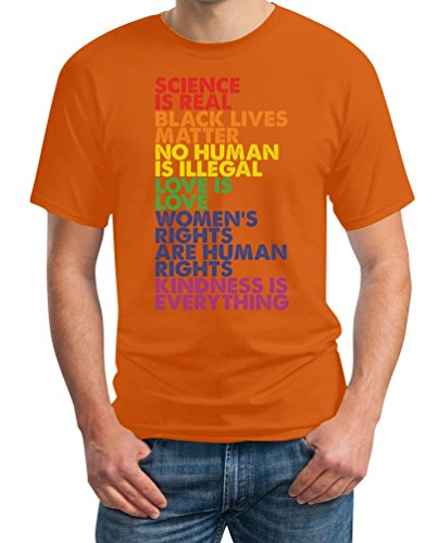 GBT Kleidung - Lesbian & Gay Herren T-Shirt X-Large Orange (Black Flag Alle Kostüme)