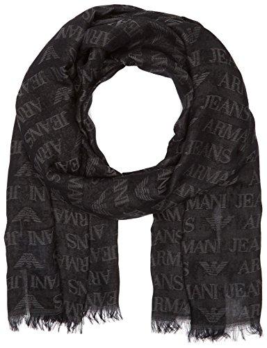 Armani Jeans 934505CC787, Sciarpa Uomo, Nero (Nero 00020), Taglia Unica