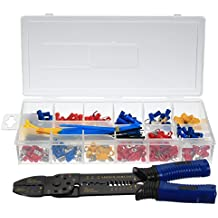 Rishil World 1 Box Insulated Electrical Cable Wire Stripper Hand Tool Crimper Plier Tool Kit