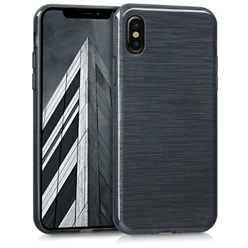kwmobile Apple iPhone X Hülle - Handyhülle für Apple iPhone X - Handy Case in Anthrazit Transparent