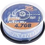 Platinum 100302 Vierge de 25 DVD-R Argent