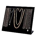 FIONAT Scatole Portagioie Banco di Esposizione dei Monili del Basamento del Braccialetto della Collana dei Monili del Espositore dei Gioielli Nero 24