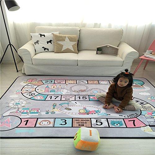 Lily & Her Friends–Kinder Fun Play Matte Familie Spiel Spielzeug Matten für Kinder, Baby Soft Play kriechen Aktivität Sicher Boden Pad Bereich Teppich Kissen Decke, rutschsicher, langlebig und waschbar, kommen beide mit einer Plüsch Würfel und zwei Spielzeug Trainiert