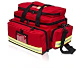 Medical Trauma Bag Medium Size Red/Black Multiple Pockets Unkitted