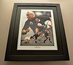 Jonah Lomu Signé Grand photo encadrée dédicacée New Zealand Rugby affichage + COA