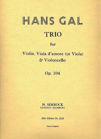 Streichtrio A-Dur: op. 104. Violine, Viola d'amore (Viola) und Violoncello. Stimmensatz.