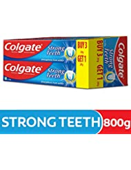 Colgate Strong Teeth Anti-Cavity Toothpaste - 200 gm (Buy 3 Get 1 Free)