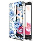 Kompatibel mit Asus Zenfone Go TV Hülle,Bunte Gemalte Mandala Blumen Transparent TPU Silikon Handyhülle Tasche Case Durchsichtig Schutzhülle für Asus Zenfone Go TV ZB551KL (5,5 Zoll),Blaue Rose Blumen