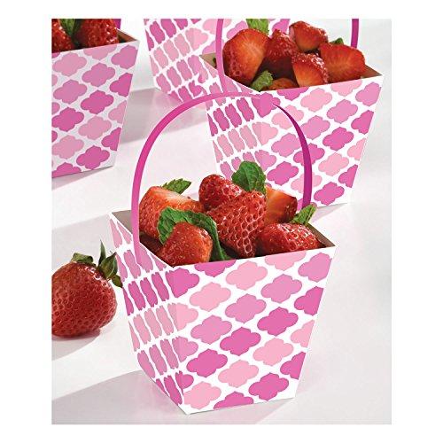 Amscan 149000 Mini Paper Cups Becher, Papier, rose Rose Cup