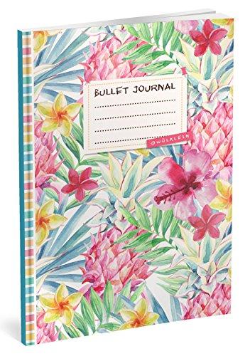 Bullet Journal: Punktraster Notizbuch (Ca. A5) + 100 Seiten + Vintage Softcover | TOP Motiv: Aquarell | Dotted Grid Notebook, Kaligrafie Papier, Punktpapier +++ Jetzt mit Register +++