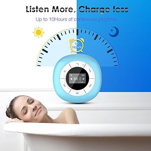 VTIN Mini Bluetooth 4.0 Lautsprecher Wasserdicht Wireless – Subwoofer Effekt für Handys - 5