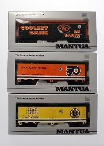 Mantua NHL Heavy 41 Steel Reefer Car Train Set of 3 Box Cars Toy by NHL