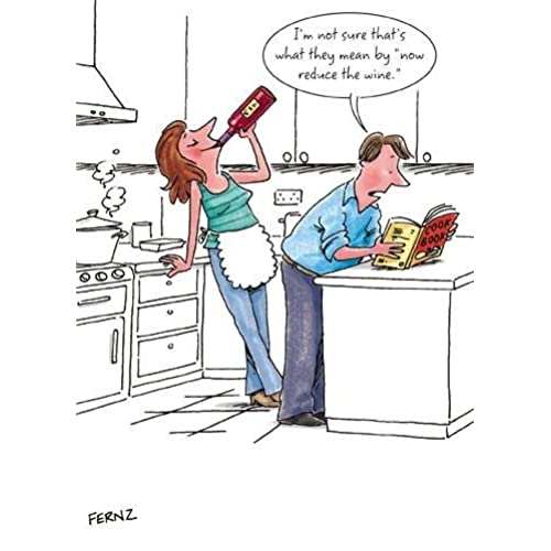 Funny birthday cards for male friends amazon greeting card ph3723 humour birthday reduce the wine couple cooking bookmarktalkfo Gallery