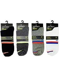 Jockey Men's Ankle Length Socks (Multicolour) - Pack of 4