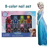 Fille de Disney Princesses Super Set brillant brillant Peel-Off Present Set pour filles, 8 couleurs