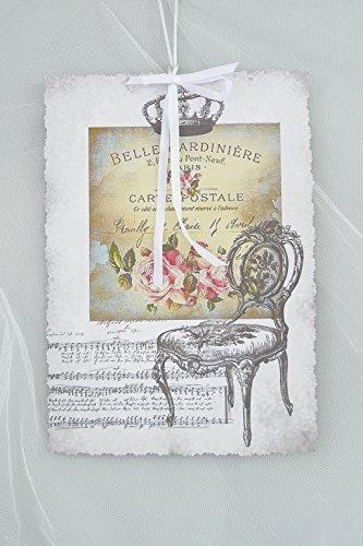 Deko-Karte Nostalgie 'Stuhl' A4 handgemachtes Einzelstück (Moderne Rechteckige Stuhl)