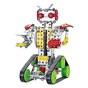 ColorBaby - Juego de construcción Robot metal, 262 piezas (49034)