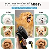 Bonve Pet Hundebürste, Selbstreinigende Bürste| Katzenbürste| Unterfellbürste, Schnelle Reinigung für Kurze| Langeoder Feine| Borstige Haare von Hunde, Katzen und Pferde - 2