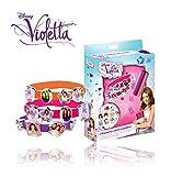 MEDIA WAVE store Set 3 bracciali in silicone 18 VIOLETTA Disney V-Lovers WD95001