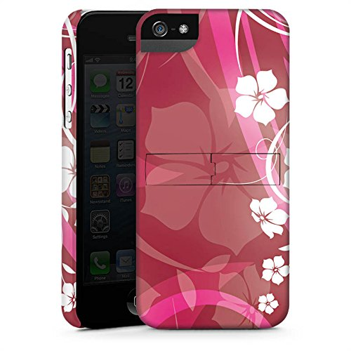 Apple iPhone 5 Housse Étui Silicone Coque Protection Fleurs Fleurs Vrilles CasStandup blanc