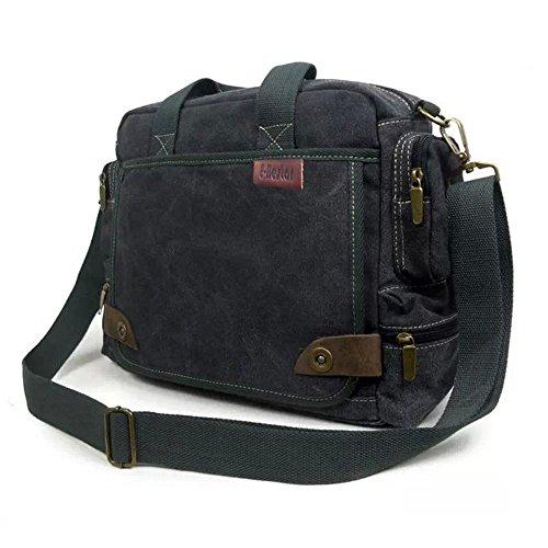 E-Bestar Herren Canvas Handtasche Schultertasche Canvas Unisex Schultertasche Ideal für Büro Canvas Uni Umhängetasche