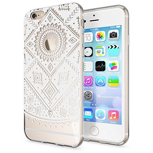 iPhone 6 6S Coque Protection de NICA, Housse Motif Silicone Portable Premium Case Cover Transparente, Ultra-Fine Souple Gel Slim Bumper Etui pour Apple iPhone 6S 6 - Transparent Pattern