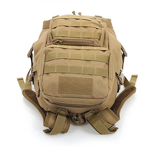 aiyuda Outdoor 20L Militär Rucksäcke Rucksack Tactical MOLLE 1000D Nylon groß wasserdicht Assault Pack für Camping Trekking Wandern Braun - Coyote Brown