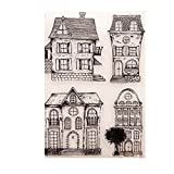 Tiyee House Clear Silicone Rubber Seal Stamps DIY Album Scrapbooking Photo Card Decor
