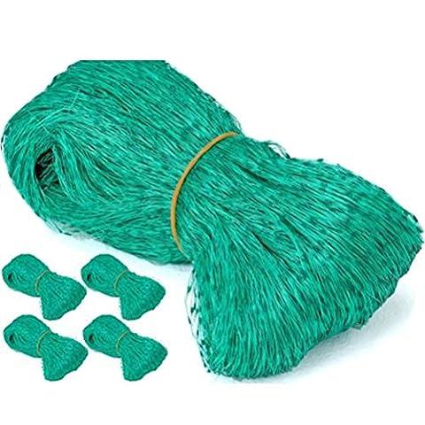 Ounona 4m x 5m Maille filet Filet de jardin pour plantes Fruits protection pour animal domestique contrôle Filet Filet 5pcs
