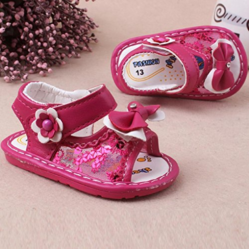 Igemy 1 Paar Baby Mädchen Bowknot Sandalen Casual Schuhe Anti-Rutsch Soft Sole Kleinkind Pink 1TVPLV