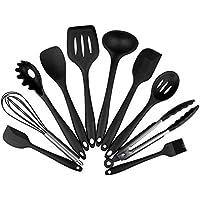 Utensili da Cucina in Silicone Set di 10 per Ummaid, Resistente al Calore Antiaderente Cucina (Cucina Wipe)