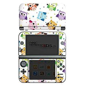 DeinDesign Nintendo New 3DS XL Case Skin Sticker aus Vinyl-Folie Aufkleber Eulen Muster Bunt