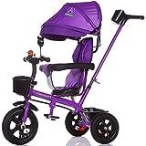 Multifunktionale 4-in-1 Sport Edition Trike Kind Dreirad Kid Trolley mit Anti-UV-Markise und Eltern Griff für 1-3-6 Jahre alt Boy und Girl Baby (Vitality Purple Bike) ( Farbe : C )