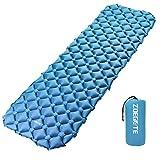 Speedsporting Camping Isomatte Kleines Packmaß - Ultraleichte Isomatte - Aufblasbare Luftmatratze - Schlafmatte fü (Blau ohne Kissen)