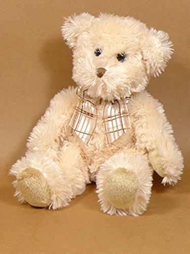 Douglas 1270.1 - Fuzzy Cream Bär mit Schleife sitzend, creme, Plüsch
