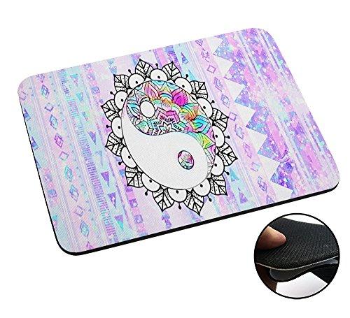 003769 - Aztec Mandala Ying And Yang Good And Evil Design Macbook PC Laptop Anti-slip Mousepad Mouse Mat Tpu Leather Stark haftende Unterseite für optimalen Halt (Ying Yang Notebook)