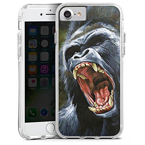 Apple iPhone 6s Bumper Hülle Bumper Case Glitzer Hülle Gorilla Affe Dschungel Bumper Case transparent