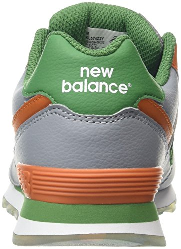 New Balance Unisex-Kinder 574 Hohe Sneakers Mehrfarbig (Grey/Orange 058Grey/Orange 058)
