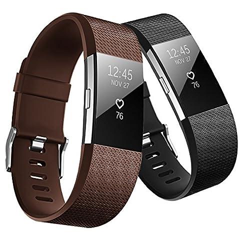 Fitbit Charge 2 Armband original, Yometome Weiche TPE Uhrenarmband für Sport und Ersatz Klassisch Armband für Fitbit Charge 2