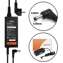 subtel® Fuente de alimentación (19V,65W) para Asus Zenbook UX31A / UX31E / X200CA / S200E / X201E (2.2m) cable de corriente Cargador ordenador portatil