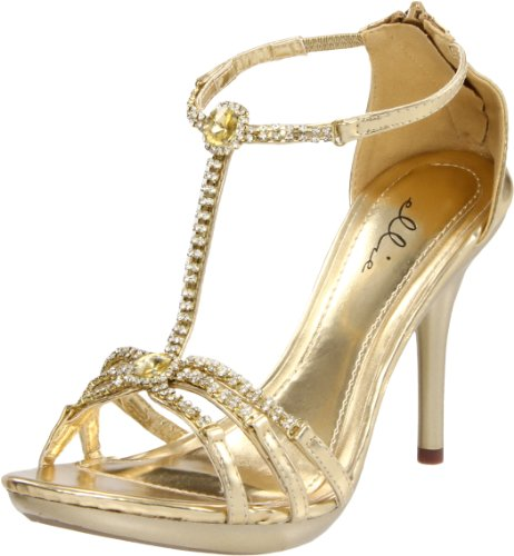 Ellie Shoes, Sandali donna blu Blue Gold