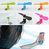 Big Square Mobile USB Fan/ Portable USB Fan/ Mini Mobile Cooler/ Mini USB Fan For Android Phones PACK OF 3(Assorted Color)