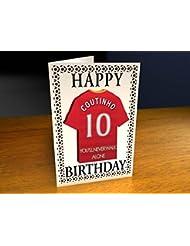 Equipos de la liga de campeones de la UEFA–Camiseta de fútbol para tarjetas de cumpleaños–cualquier nombre, cualquier número, cualquier equipo., hombre mujer Infantil, Liverpool FC Football Team