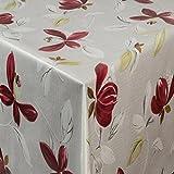 EHT Tischdecke Wachstuch Gartentischdecke rund eckig oval in verschiedenen Größen Meterware Wachstischdecke Blume Magnolie
