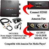 HDMI to 3RCA Composite AV Converter for Amazon Fire Media Player