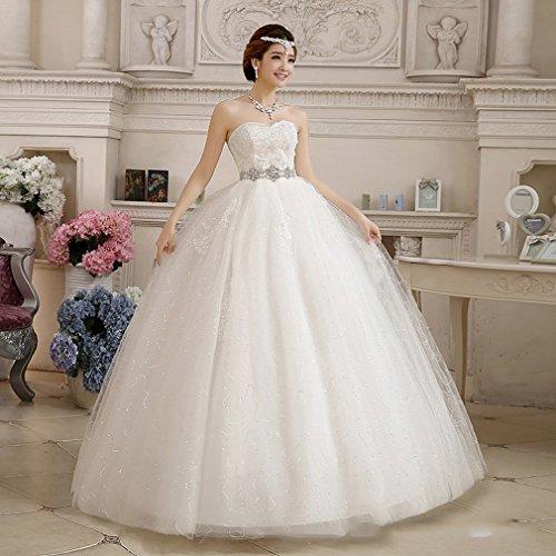 QP Moderne Hohe Taille Schwangere Qi rote Hochzeit Brautkleid Brautkleid der Hochzeit Small UN