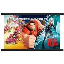 "Wreck It Ralph (2012) película tela Wall Scroll Poster (32""x 42)"