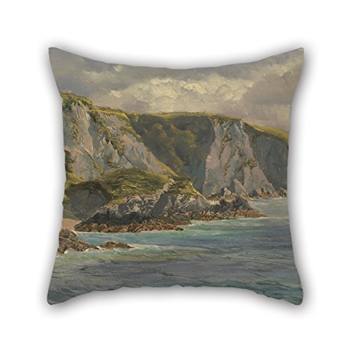 Uloveme Throw Pillow case/Copricuscini e federe Of Oil Painting John Brett - On The Welsh Coast,for Boy Friend,him,deck Chair,office,son,bar Seat 18 X 18 Inches / 45 By 45 Cm(twice Sides)